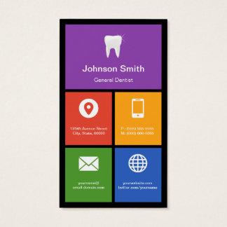 Le Général Dentist - tuiles colorées créatives Cartes De Visite