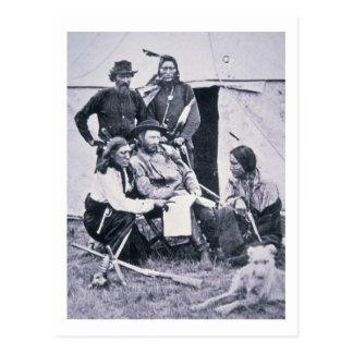 Le Général George A. Custer (1839-76) avec son Carte Postale