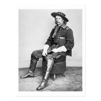 Le Général George A. Custer (photo de b/w) Carte Postale