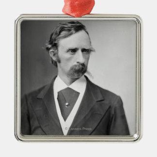 Le Général George Custer Ornement Carré Argenté