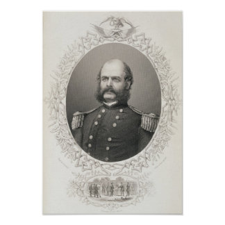 Le Général principal Ambrose Everett Burnside Poster