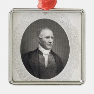 Le Général Samuel Houston Ornement Carré Argenté