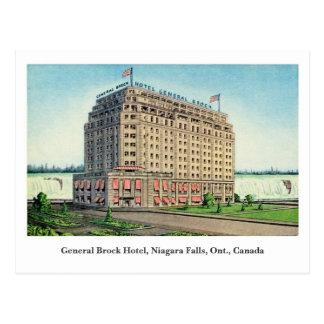 Le Général vintage Brock Hotel Niagara Canada Carte Postale