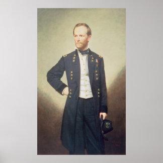 Le Général William Sherman 1866 Affiche