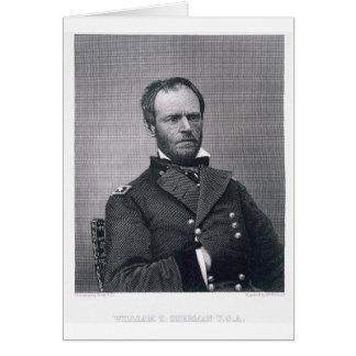 Le Général William Tecumseh Sherman, gravé après a Cartes
