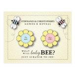 Le genre d'abeille de bébé indiquent la carte post