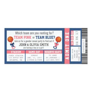 Le genre de billet de sports indiquent carton d'invitation  10,16 cm x 23,49 cm