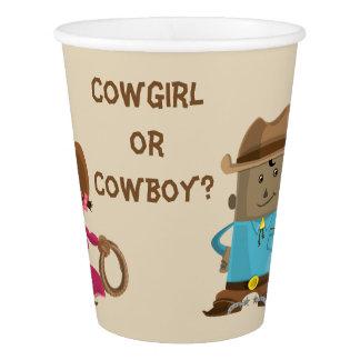 Le genre de cow-girl ou de cowboy indiquent la gobelets en papier