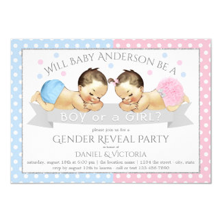 Le genre indiquent des invitations de baby shower