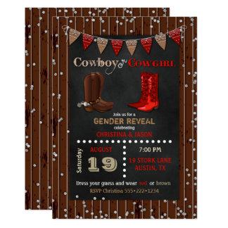 Le genre occidental de cowboy ou de cow-girl carton d'invitation  12,7 cm x 17,78 cm