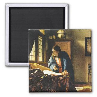 Le géographe de Johannes Vermeer (circa 1669) Magnet Carré
