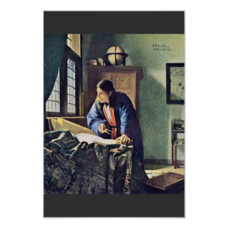 Le géographe., par Johannes Vermeer Poster