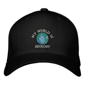 """Le géologue """"mon monde est casquette brodé de casquette brodée"""