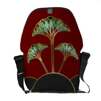 Le Ginkgo d'art déco laisse le sac messenger Sacoches