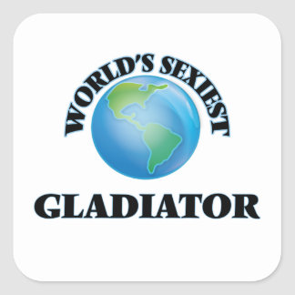 Le gladiateur le plus sexy du monde stickers carrés