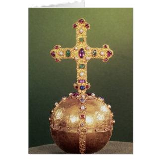 Le globe impérial des empereurs romains saints carte de vœux