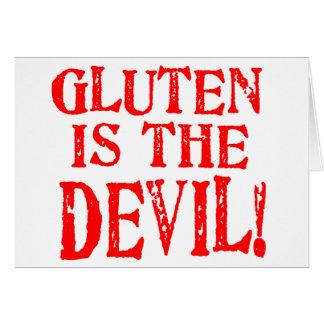 Le gluten est le diable carte de vœux