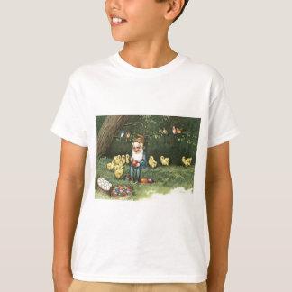Le gnome Elf Pâques a coloré le poussin peint T-shirt