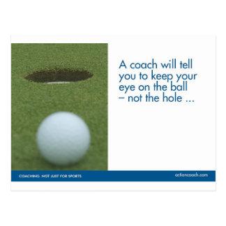 Le golf folâtre la carte postale