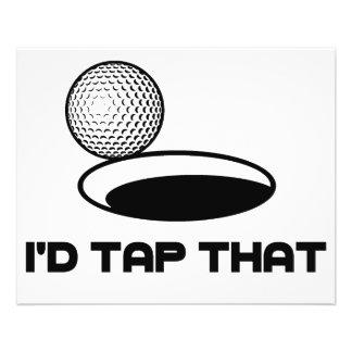 Le golf I taperait cela Prospectus 11,4 Cm X 14,2 Cm