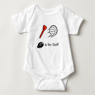 Le golf mignon badine le T-shirt