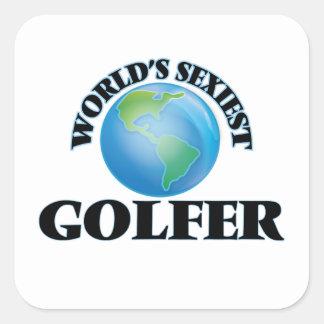 Le golfeur le plus sexy du monde sticker carré