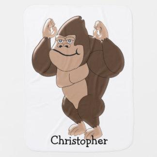Le gorille ajoutent juste le nom couvertures pour bébé