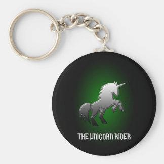Le gousset de clé de cavalier de licorne porte-clé rond