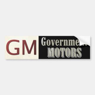 Le gouvernement de GM circule en voiture politique Autocollant Pour Voiture