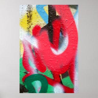le graffiti pose l'affiche posters