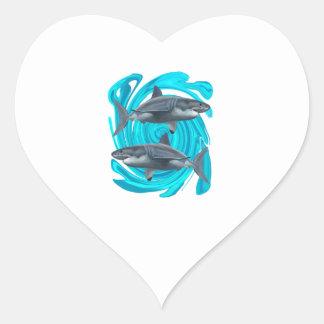 Le grand cercle sticker cœur