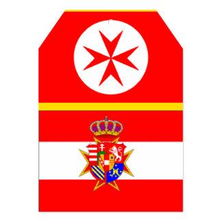 Le Grand-Duché de bannière de la Toscane Carton D'invitation 12,7 Cm X 17,78 Cm