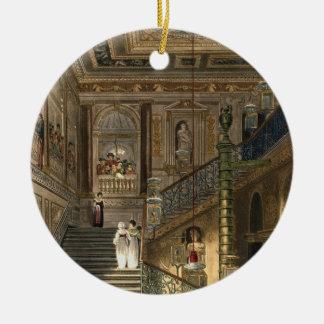 Le grand escalier au palais de Kensington de Pyne Ornement Rond En Céramique