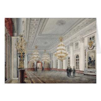Le grand hall, palais d'hiver, St Petersburg Carte De Vœux