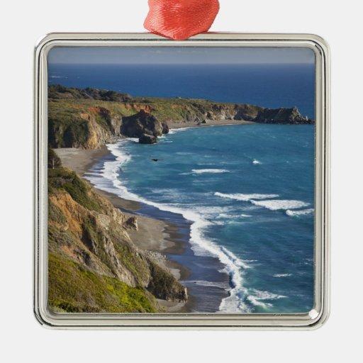 Le grand littoral de sur en californie etats unis ornement carr argent zazzle - Le grand littoral ...