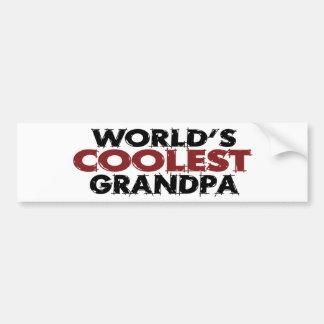 Le grand-papa le plus frais des mondes autocollant pour voiture