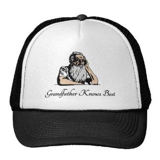 Le grand-père sait le meilleur casquette de camionneur