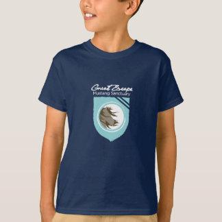 Le grand sanctuaire de mustang d'évasion badine le t-shirt