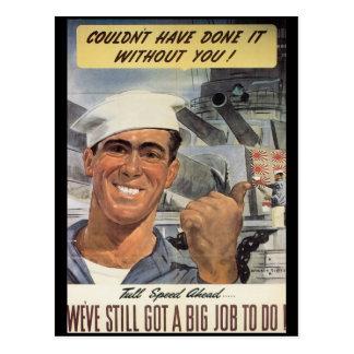 Le grand travail de faire la guerre mondiale 2 carte postale