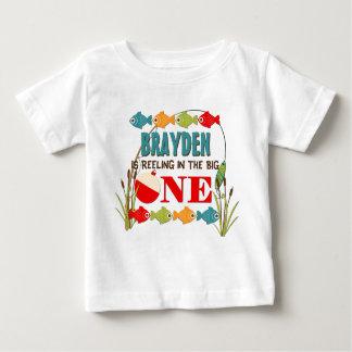 Le grand un anniversaire de pêche de garçons de t-shirt pour bébé