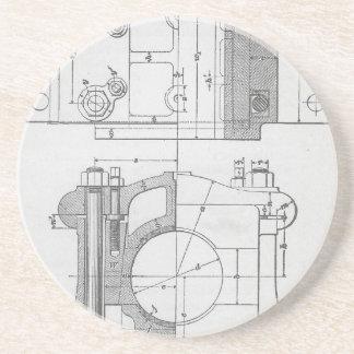 Le graphique vintage du mécanicien industriel dessous de verres