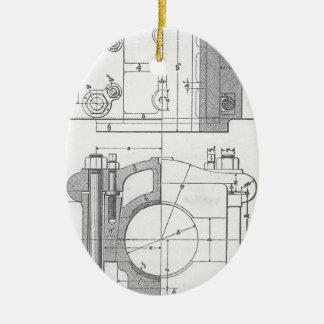 Le graphique vintage du mécanicien industriel ornement ovale en céramique