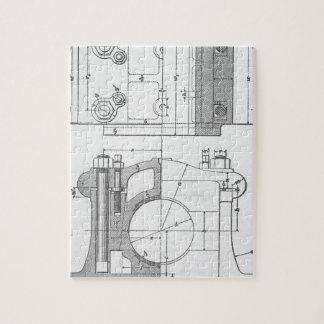 Le graphique vintage du mécanicien industriel puzzle