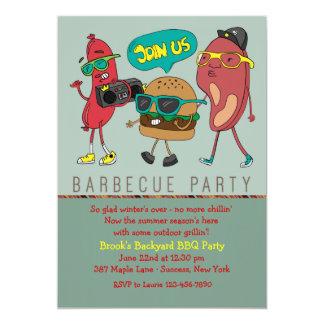 Le gril joint l'invitation de barbecue carton d'invitation  12,7 cm x 17,78 cm