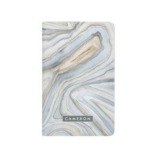 Le gris a marbré la conception abstraite carnet de poche