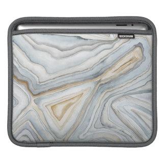 Le gris a marbré la conception abstraite poches iPad