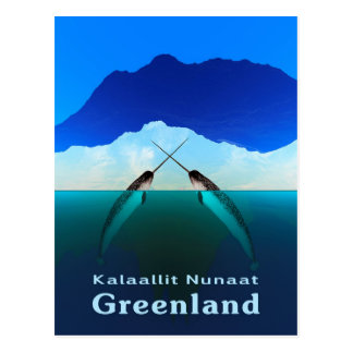 Le Groenland - le Narwhal Carte Postale