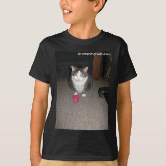 Le gros chat grincheux ne s'amuse pas t-shirt