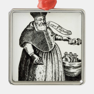 Le gros évêque ornement carré argenté