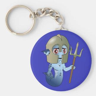 Le guerrier de Neptune de triton Porte-clé Rond